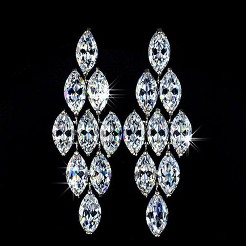 Diamond Chandelier Stud Earrings