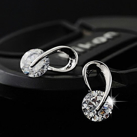 Swarovski diamond stud earrings