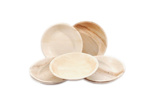 Disposable Square Palm Plates, Round Plates and Bowls at MaLurra