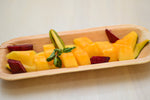 Disposable Palm Leaf Bamboo Styled Tray | 4-Inch Platters Tray