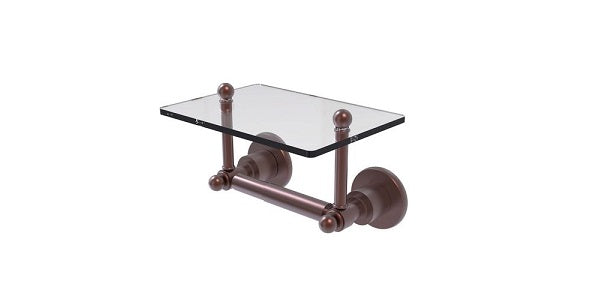 TP holder with glass shelf