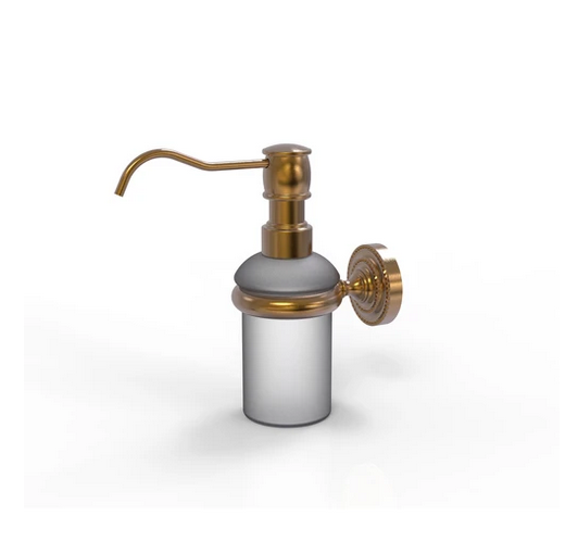 wall-mounted soap/sanitizer dispenser from Allied Brass