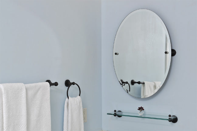 Wall-mounted tilt mirror from Allied Brass