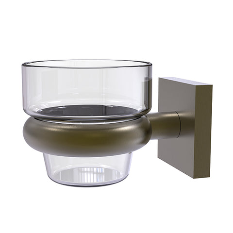 Wall mounted brass votive candle holder