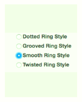 4 ring styles on select Allied Brass accessories
