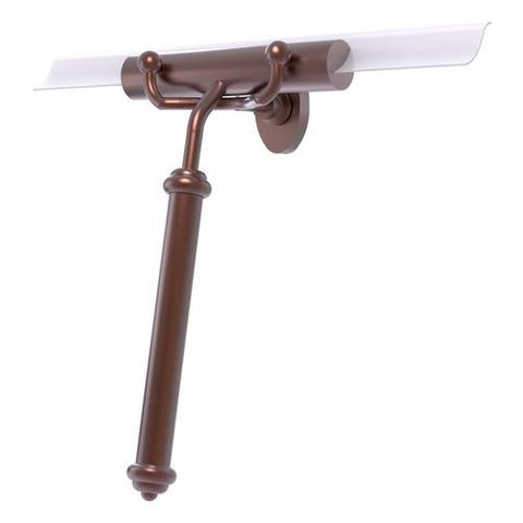 Brass squeegee with smooth handle and hook