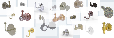Lots of finish options for brass hardware and accessories