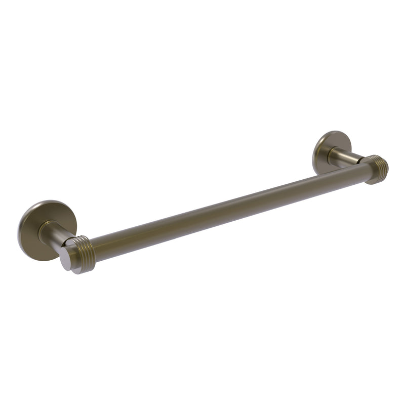 Continental Collection Towel Bar with Grooved Accents