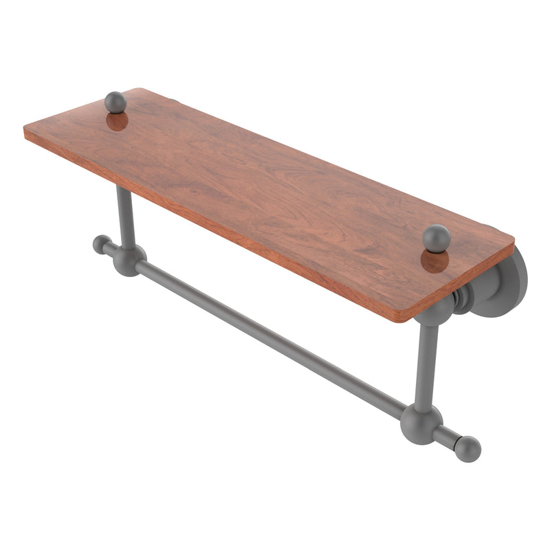 Allied Brass AP-1-16-IRW-PEW Astor Place Collection 16 Inch Solid IPE Ironwood Shelf Antique Pewter