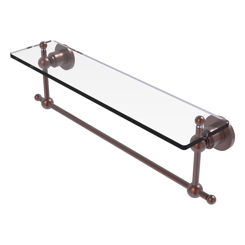 Astor Place Vanity Glass Shelf  with Integrated Towel Bar