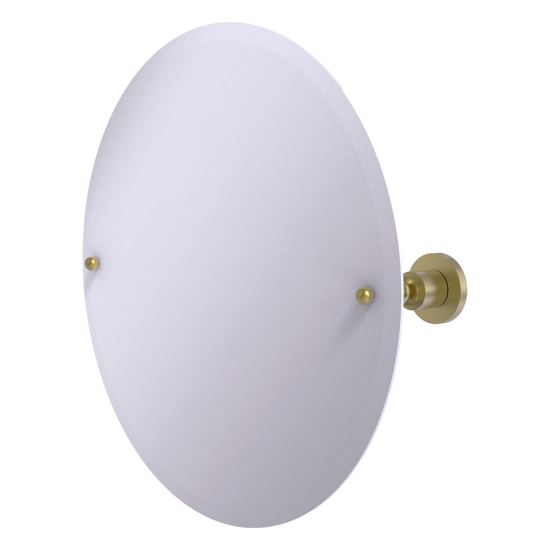 Frameless Round Tilt Mirror with Beveled Edge