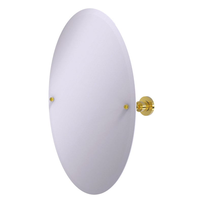 Frameless Oval Tilt Mirror with Beveled Edge