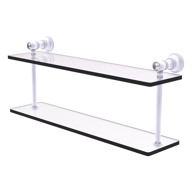 Carolina Crystal Collection Two Tiered Glass Shelf