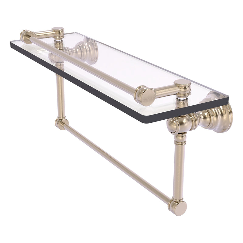 Carolina Collection 16 Inch Gallery Glass Shelf with Towel Bar