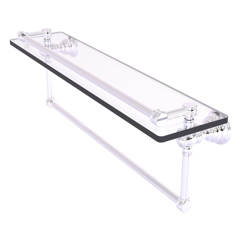 Carolina Collection Gallery Glass Shelf with Towel Bar