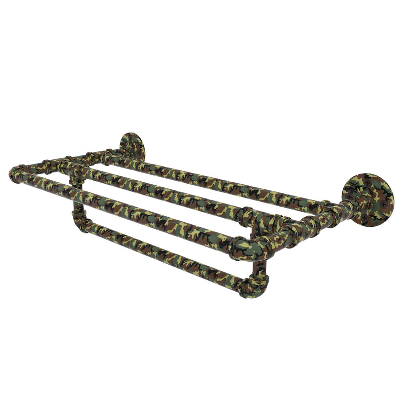 Camo Collection Wall Mounted Towel Shelf with Towel Bar