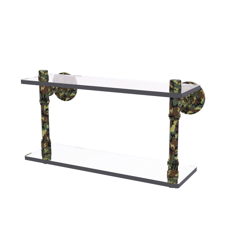 Camo Collection Double Glass Shelf