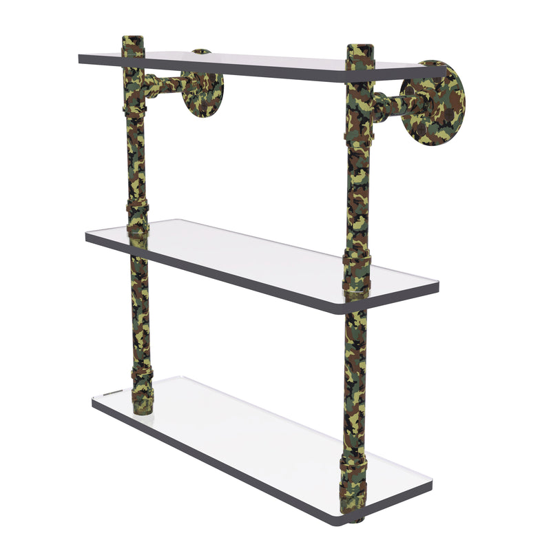 Camo Collection 16 Inch Triple Glass Shelf