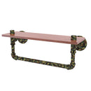 Camo Collection 16 Inch wood Shelf with Towel Bar