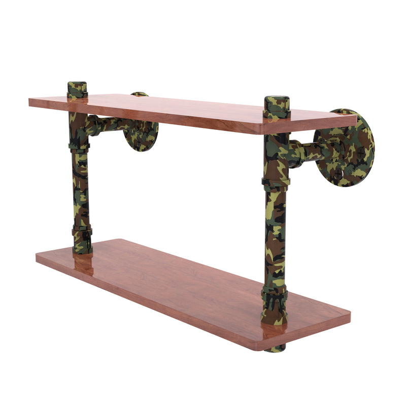 Camo Collection Wood Double Shelf