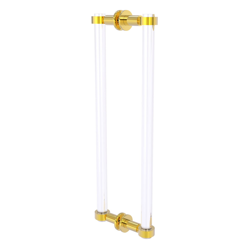 Clearview Collection Back to Back Shower Door Pull with Smooth Accents