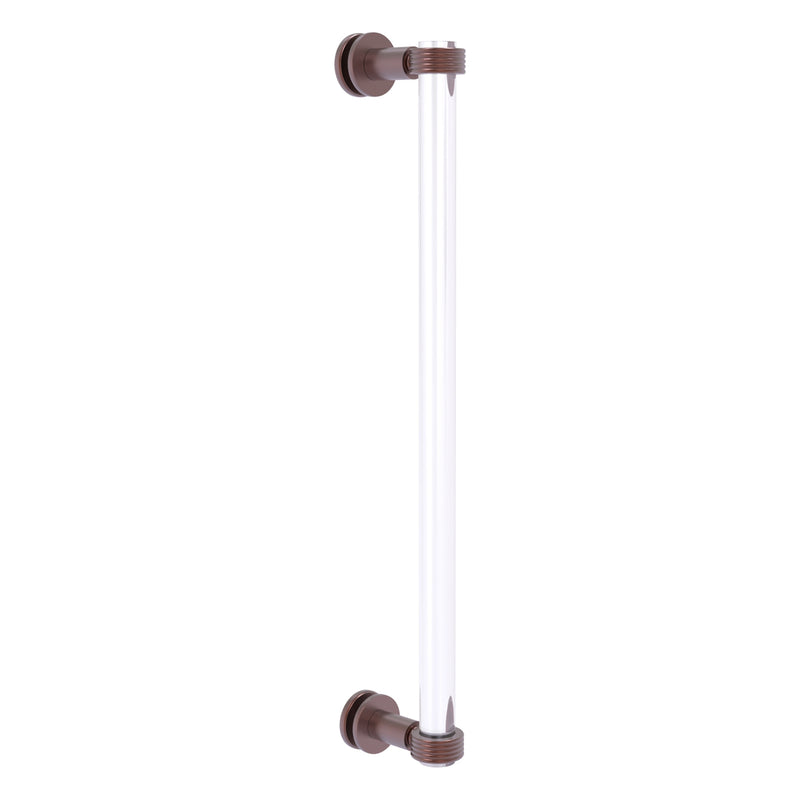 Clearview Collection Single Side Shower Door Pull with Grooved Accents