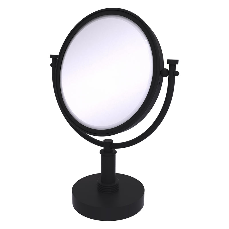 8 Inch Vanity Top Make-Up Mirror with Grooved Accents