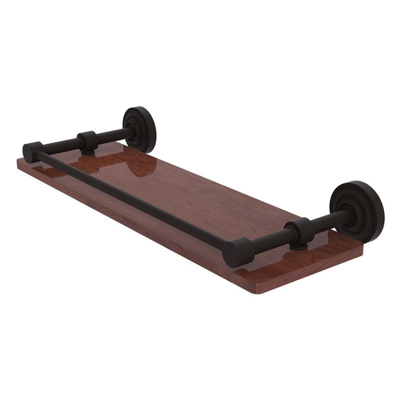Dottingham Collection Solid IPE Ironwood Shelf with Gallery Rail