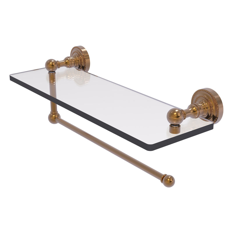 Dottingham Collection Paper Towel Holder with Glass Shelf