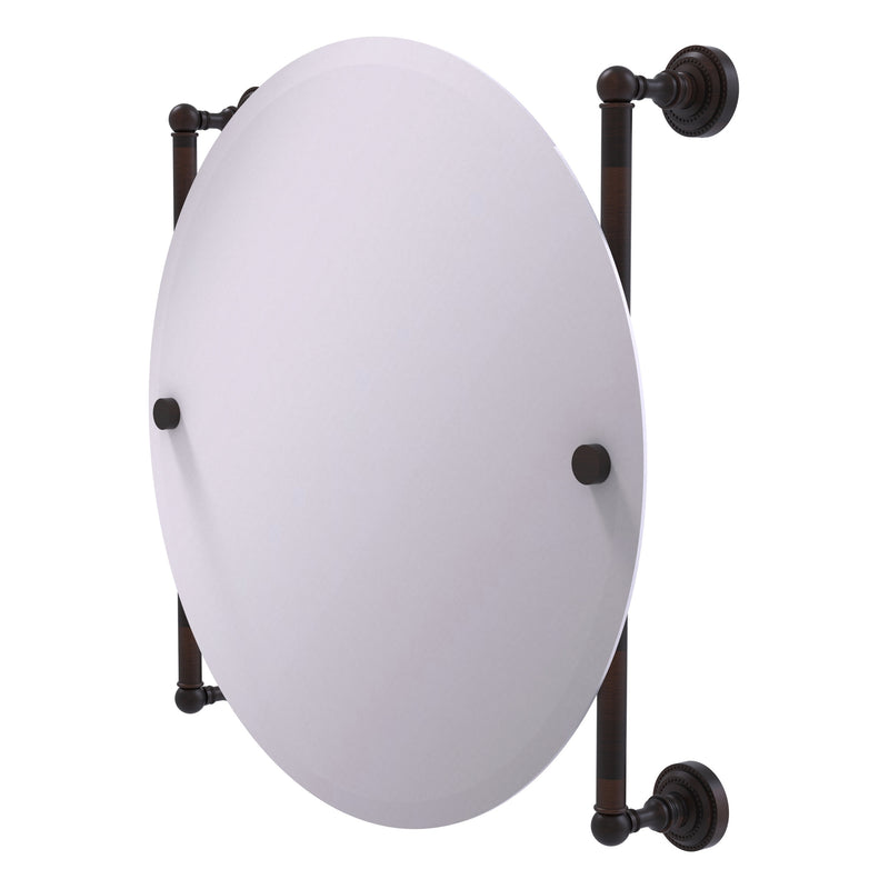 Dottingham Collection Round Frameless Rail Mounted Mirror