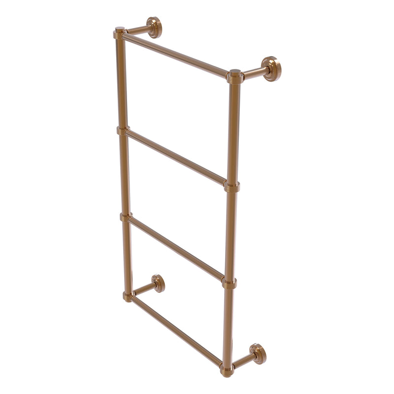 Dottingham Collection 4 Tier Ladder Towel Bar with Grooved Accents