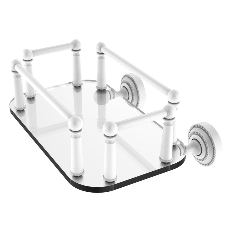 Dottingham Collection Wall Mounted Glass Guest Towel Tray