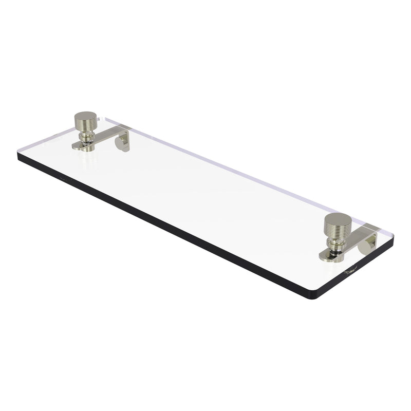 Foxtrot Collection Glass Vanity Shelf  with Beveled Edges