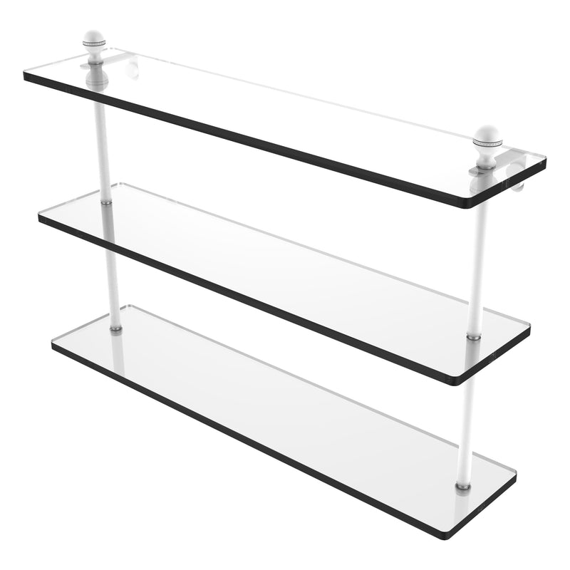 Mambo Collection Triple Tiered Glass Shelf