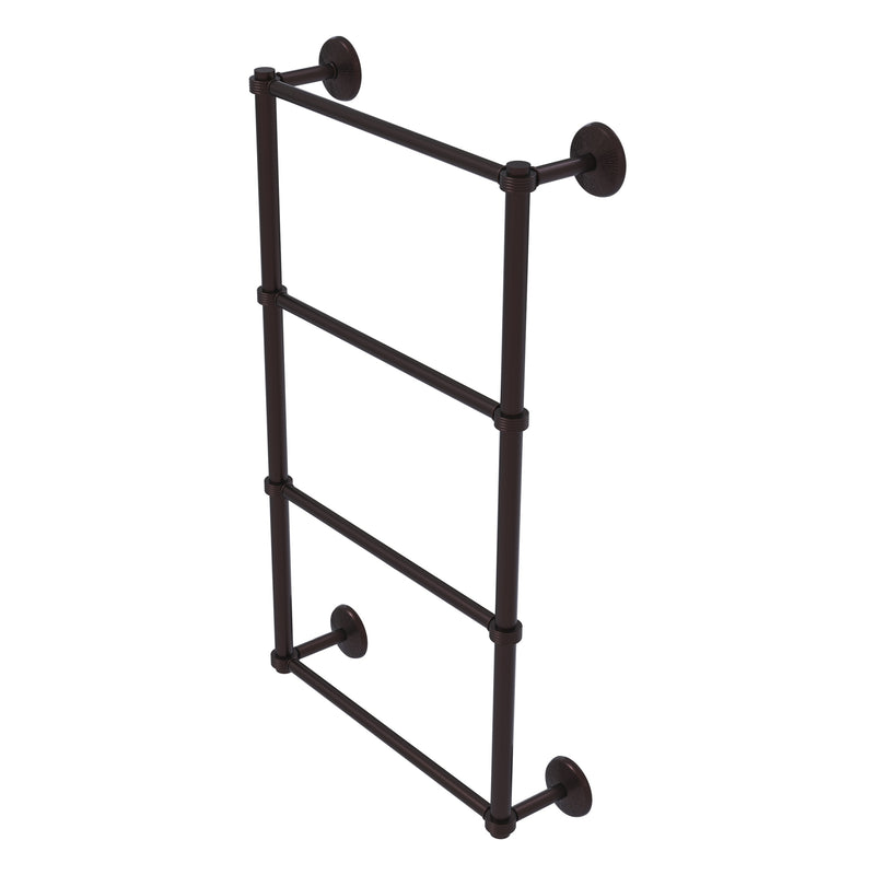 Monte Carlo Collection 4 Tier Ladder Towel Bar with Grooved Accents