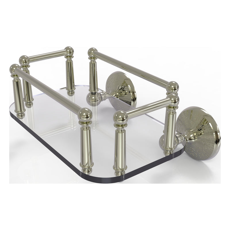 Monte Carlo Collection Wall Mounted Glass Guest Towel Tray