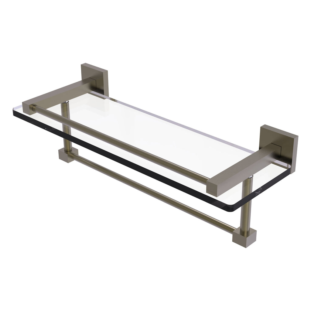 Montero Collection Gallery Rail Glass Shelf With Towel Bar