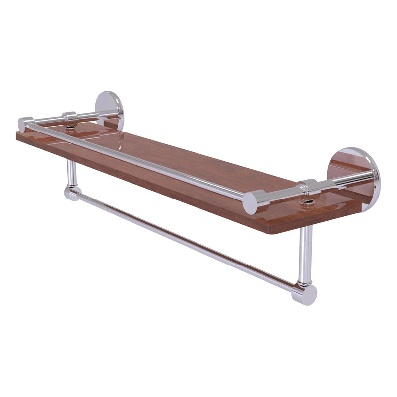 Prestige Skyline Collection IPE Ironwood Shelf with Gallery Rail and Towel Bar