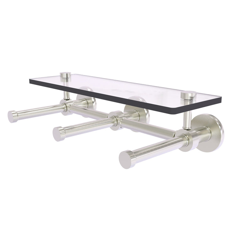 Prestige Skyline Collection Horizontal Reserve 3 Roll Toilet Paper Holder with Glass Shelf
