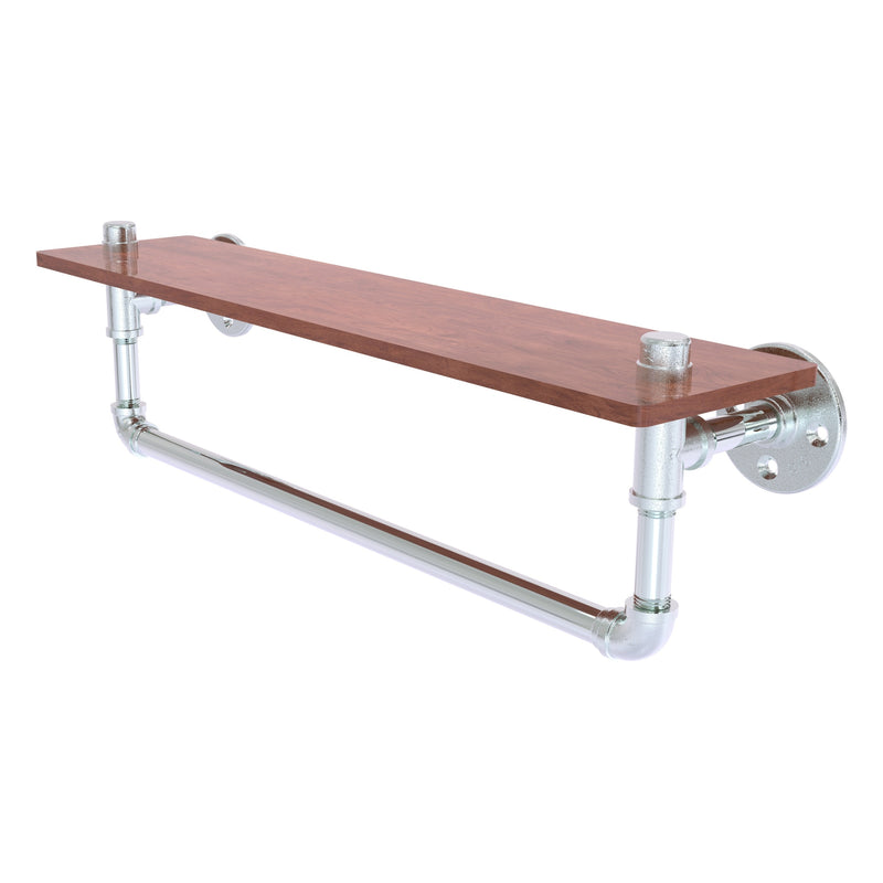 Pipeline Collection Ironwood Shelf with Towel Bar