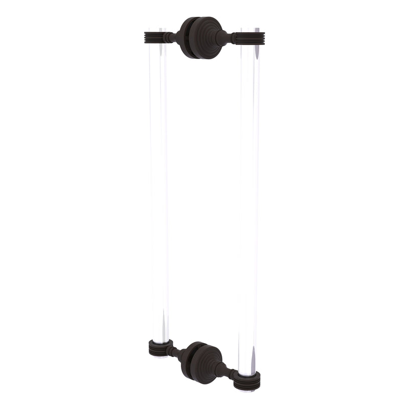 Pacific Grove Collection 12 Inch Back to Back Shower Door Pull with Dotted Accents