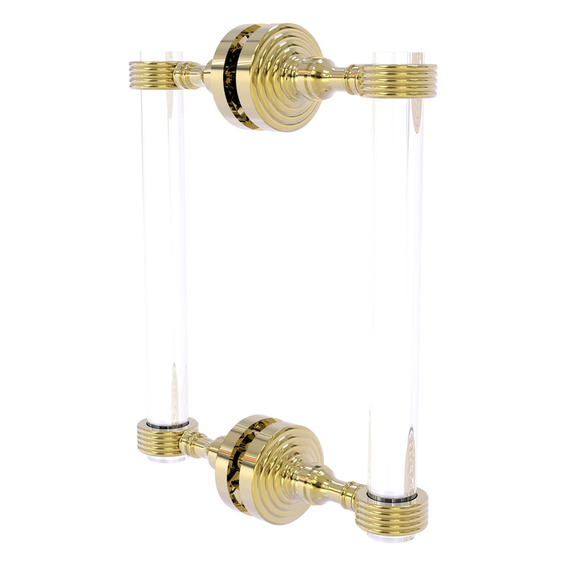 Pacific Grove Collection 12 Inch Back to Back Shower Door Pull with Grooved Accents