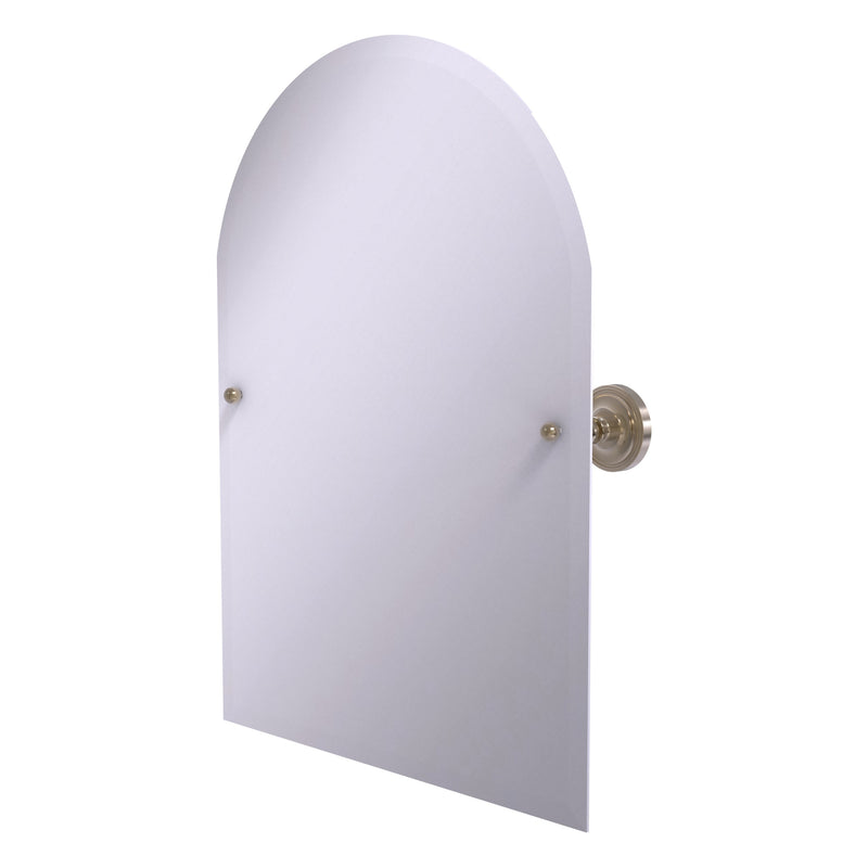Frameless Arched Top Tilt Mirror with Beveled Edge