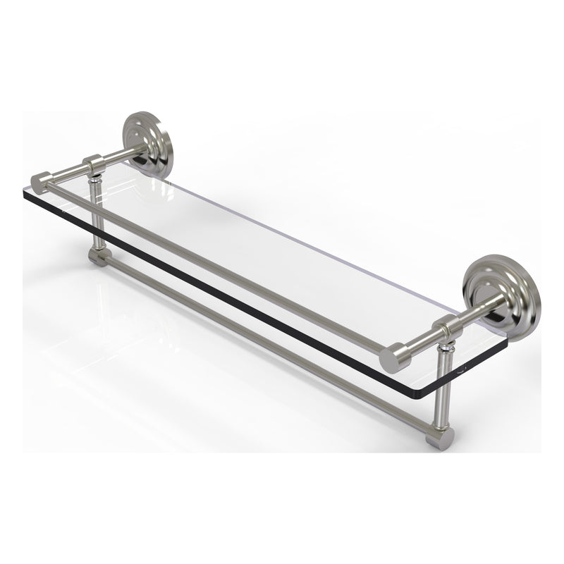 Que New Collection Gallery Rail Glass Shelf with Towel Bar