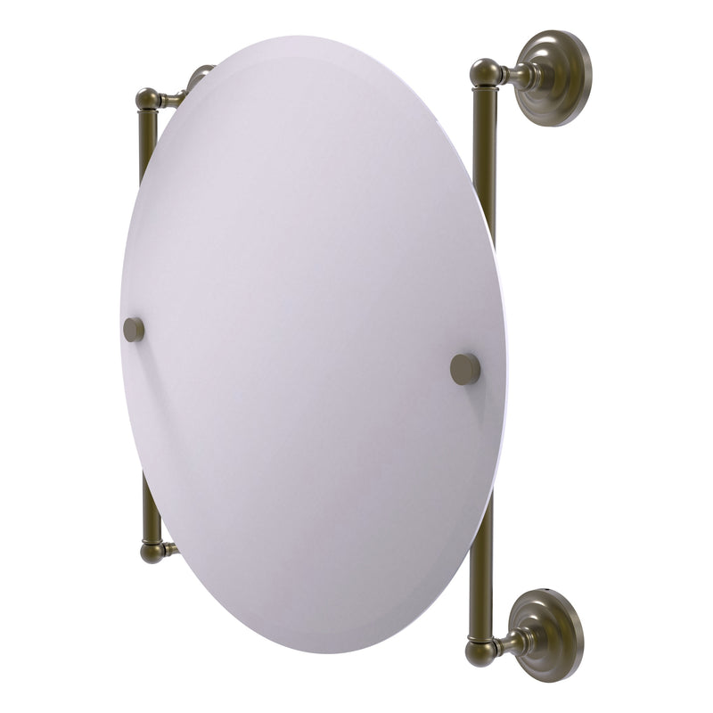 Que New Collection Round Frameless Rail Mounted Mirror