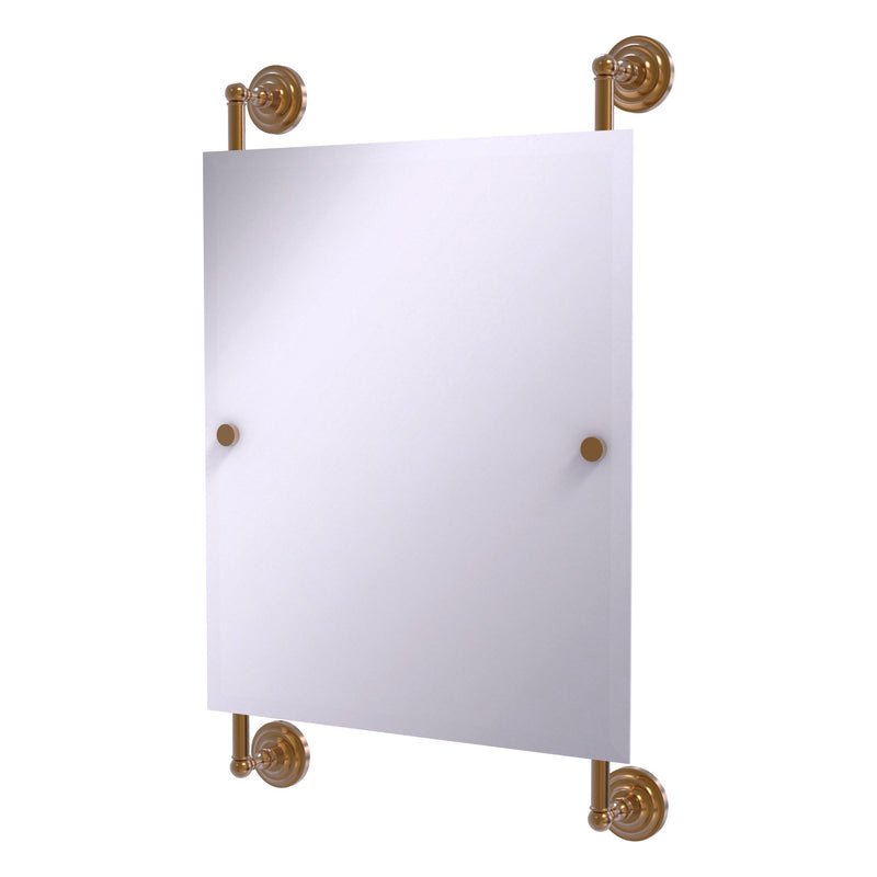 Que New Collection Rectangular Frameless Rail Mounted Mirror