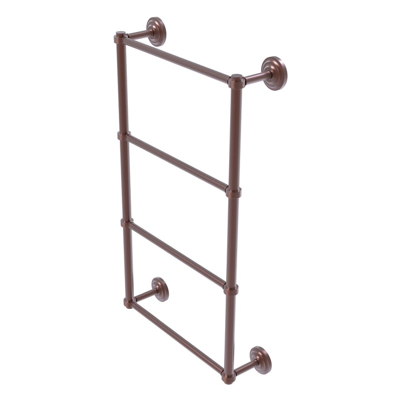 Que New Collection 4 Tier Ladder Towel Bar with Grooved Accents