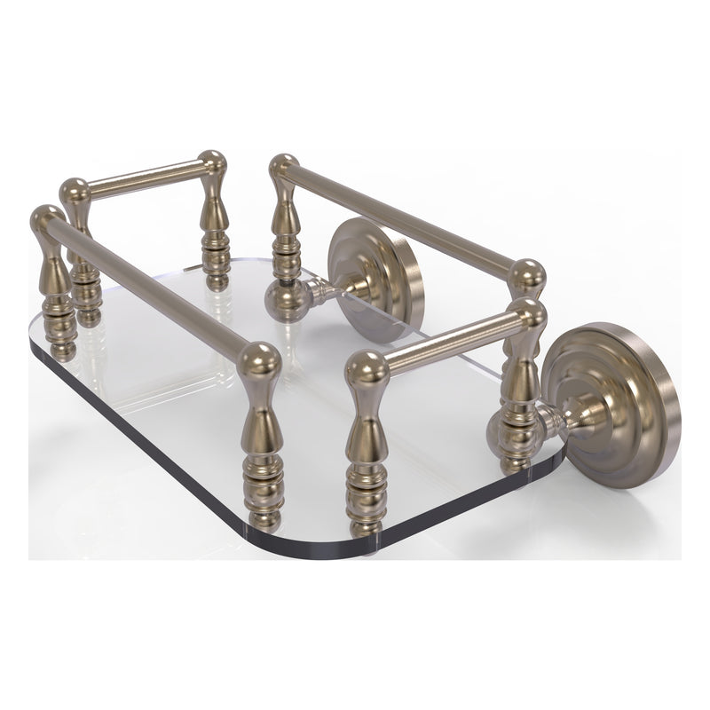 Que New Collection Wall Mounted Glass Guest Towel Tray