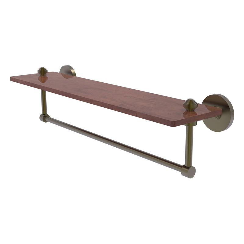 South Beach Collection Solid IPE Ironwood Shelf with Integrated Towel Bar