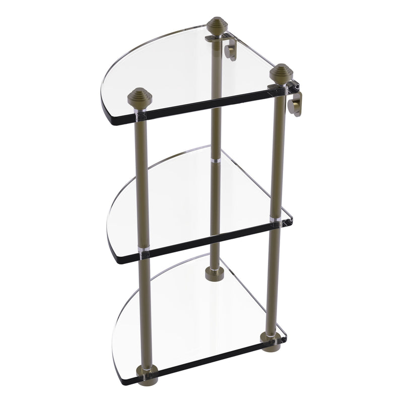 Three Tier Corner Glass Shelf
